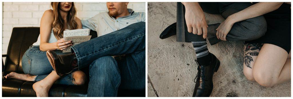 men wearing nice boots with jeans and fancy socks with slacks for portrait shoots with fawn and fellow photography.
